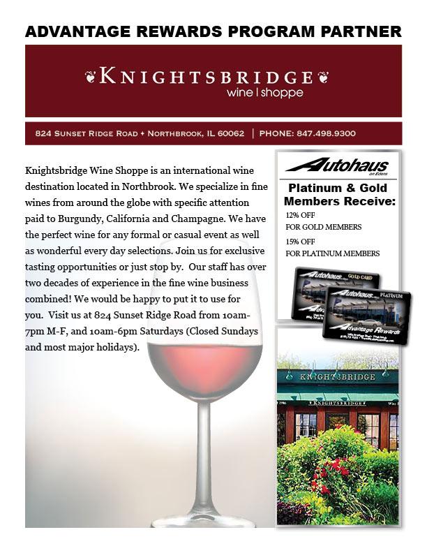 rewards knightsbridge wine shoppe autohaus on edens