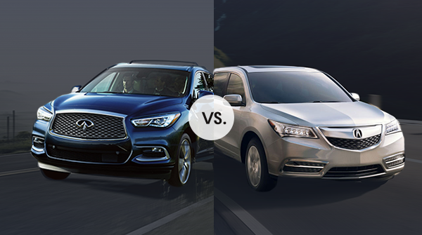 comparison acura mdx vs infiniti qx60 friendly acura of middletown. Black Bedroom Furniture Sets. Home Design Ideas