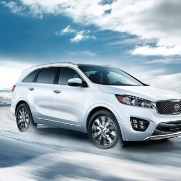 2018 Kia Sorento in the snow