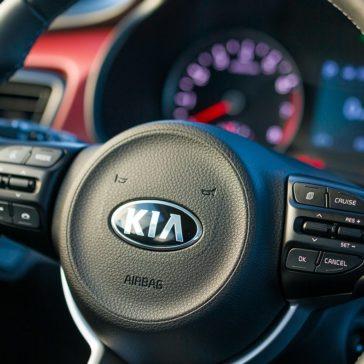 2018 Kia Rio steering wheel detail