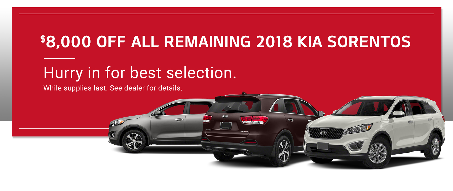 Kia Sorrento Specials
