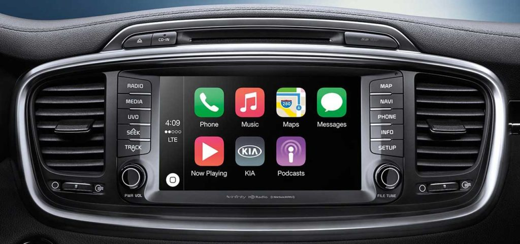 dashboard detail of Apple CarPlay