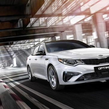 2019 Kia Optima down the highway