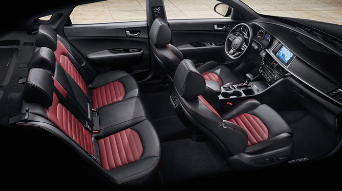 2019 Kia Optima Interior Seats Side View