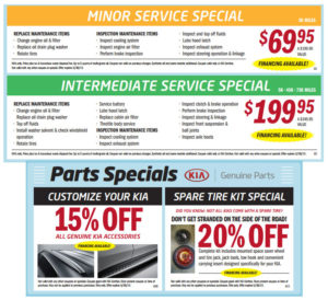 Oil Change Coupons Near Me >> Auto Service Specials And Coupons Kia Cerritos