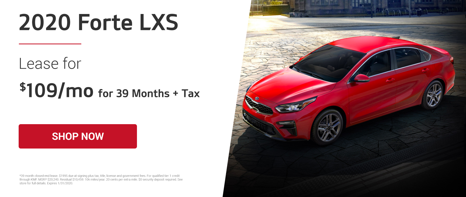 2020 Forte Lease Offer