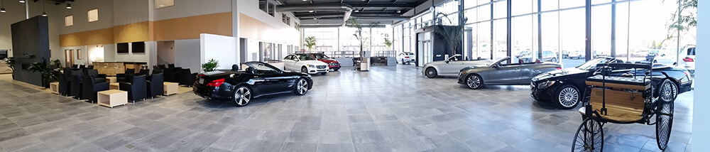 New showroom service facility mercedes benz of for Mercedes benz atlantic city