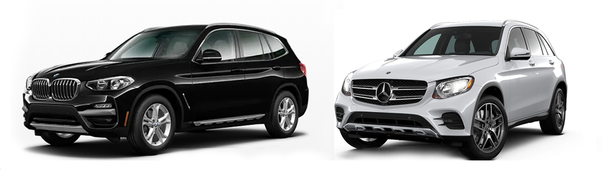 2019 mercedes-benz glc 300 vs bmw x3