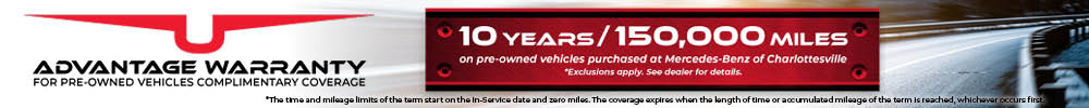 Advantage Warranty for Pre-Owned Vehicles 10 Years/ 150,000 Mile Warranty