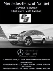 Mercedes-Benz of Nanuet Supports Clarkstown South Baseball