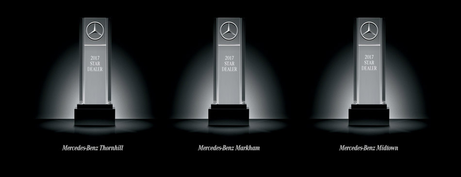 Toronto retail group dealerships presented with 3 10 star for Mercedes benz dealer northern blvd