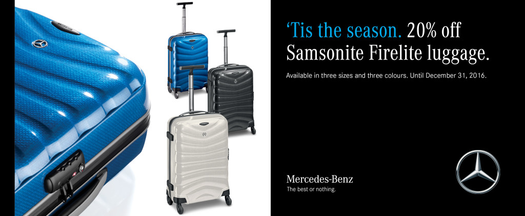 Mercedes benz collection holiday sale mercedes benz boundary for Mercedes benz suitcase