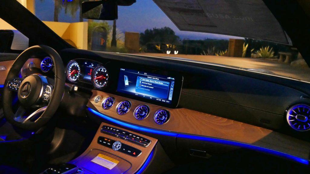 E Class Interior Night Ambient Lighting