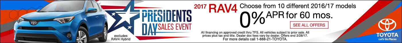 Toyota RAV4 Presidents Day